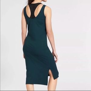 Athleta mesh midi dress